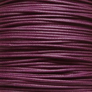 1mm Waxed Cotton Cord Purple - 5 Metres