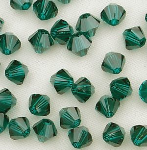 4mm Swarovski 5328 Xilion Emerald - 10