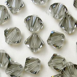 6mm Swarovski 5328 Xilion Black Diamond - 25