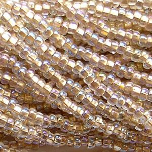 8/0 Czech Seed Bead Hank - Bronze Lined Crystal AB