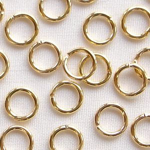 Gold Plated 6mm Jump Ring - 50
