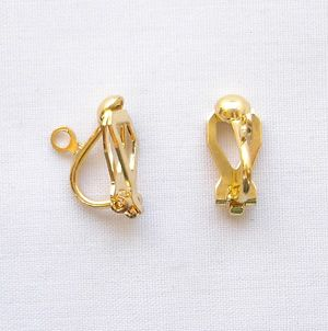 Gold Plated Small Ear Clip - 1 Pair