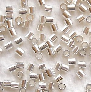 Silver Plated 2 x 2mm Crimp Tube - 100