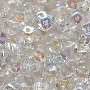 Superduo Beads Crystal AB - 10 grams