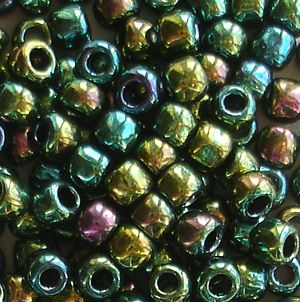 Toho 6/0 Seed Beads Higher Metallic Green Iris 507 - 10 grams