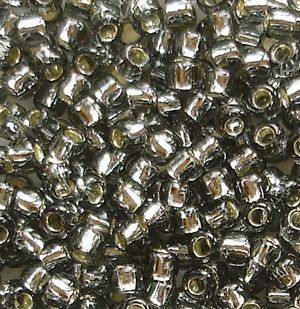 Toho 8/0 Seed Beads Silver Lined Black Diamond 29 - 10 grams