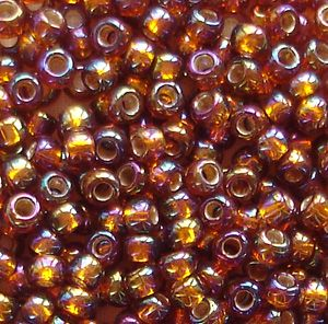 Toho 8/0 Seed Beads Silver Lined Rainbow Topaz 2034 - 10 grams